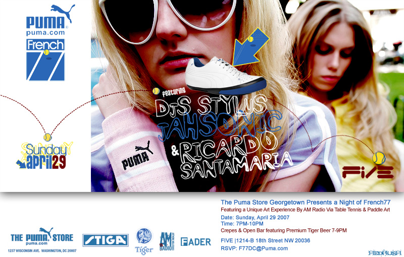 DJ Stylus & DJ Jahsonic @ Five - Puma French 77 release