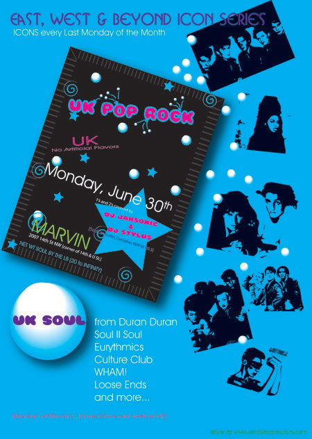 UK Pop Rocks @ Marvin w/DJ Jahsonic & DJ Stylus